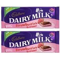Oooh lala a new strawberries and creme bar inbound from Cadbury