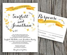 Charm Floral Scarlett Printable Wedding by LadyPoppyDesigns, $30.00