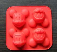 Amazon.com: 4 Cavity Mickey Mouse Silicone Cake Mold Chocolate Craft Candy Baking mold: Kitchen & Dining