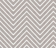 Chevron Chic - Maxi - Silver Grey fabric by kristopherk on Spoonflower - custom fabric