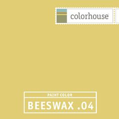 Colorhouse BEESWAX .04 - Yellow- but with a hint of green-just like an anjou pear. Pair with dark grey concrete counterops in a modern kitchen.