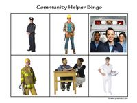Community Helpers activity ideas and some very nice printable cards showing many different community helpers.