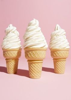 These ice cream cones remind me of old navy because they are fun and light like alot of the items in store plus ice cream is better during the summer, which I feel is sture about old navy clothing. (the styles are better in the summer)