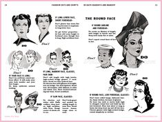 he Fashion Dos and Don'ts series from the 1940s produced this little 48 page booklet – Hats, Hairdo's, Makeup. Bobby Pin Blog Hair And Makeup Tips, Hair Makeup, 1940s Hats, Makeup History, Postwar, Body Adornment, Beauty Advice, Love Hair, Vintage Hairstyles