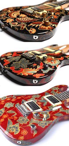 Stunning batik guitars