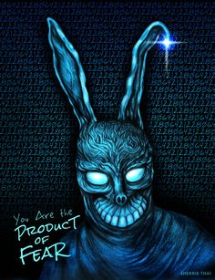 Donnie Darko Frank the Bunny Rabbit | Art by Sherrie Thai of Shaireproductions.com  Based on the character from the 2001 cult classic film.  https://flic.kr/p/FzYXDL | Donnie Darko Frank, Rabbit Art, Bunny Rabbit, Classic Films, Horror Movies, Thriller, Movie Tv, Batman, Art Prints