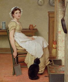Her First Place (oil on canvas), Leslie, George Dunlop (1835-1921)