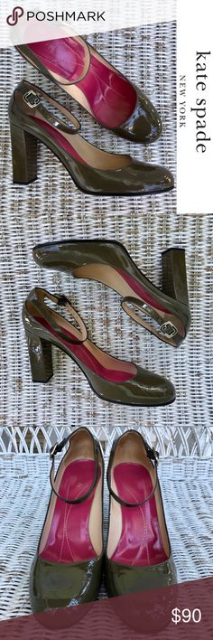 """ℕᏇᎾℬ ♠️ KATE SPADE ♠️ Mary Jane Pumps ♠️BRAND NEW — NEVER WORN! ♠️Authentic Kate Spade, made in Italy ♠️Gorgeous hunter green patent leather ♠️Classic, timeless, elegant & versatile! ♠️Approx. 4"""" Heel kate spade Shoes Heels"""