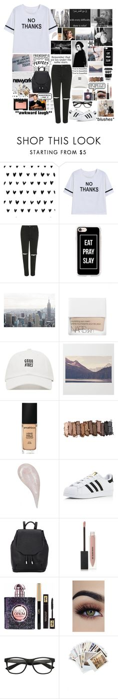 """*She got a bad reputation,she takes the long way home*"" by jami-y ❤ liked on Polyvore featuring Topshop, Casetify, GET LOST, NARS Cosmetics, Smashbox, Urban Decay, adidas, rag & bone, Burberry and Yves Saint Laurent"