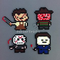 Horror Movie Heavy Hitters Perler Bead magnet set of 4
