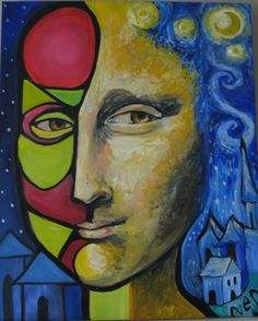 Pablo Picasso Cubism Art that looks, at least to me, a little like the Mona Lisa! Pablo Picasso, Picasso Cubism, Cubist Drawing, Cubist Art, La Madone, Monalisa, Oil Painting Abstract, Watercolor Artists, Painting Art