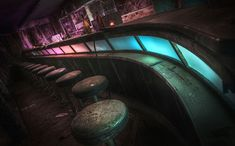 The old retro bar in the abandoned Pines Hotel. Photo by Niki Feijen