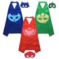 PJ Mask cape/mask set Owlette catboy gekko by Unique2YouGifts