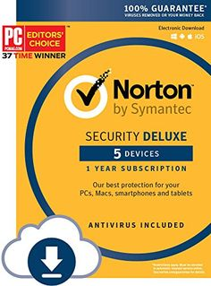 Get Norton Security Deluxe for 5 Devices for $19.99 - Today only, get protection for your PCs, Macs, smartphones, and tablets with Norton Security Deluxe for 5 Devices in PC/Mac download or key card. This offer ends at 11:59 p. m. (PT) on Tuesday, September 13th, 2016. Expires Sep 14, 2016