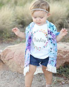 Custom Baby Girl Onesie Custom Toddler Girl Shirt by TrendyCactus