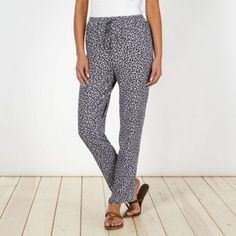 Mantaray Designer navy floral ditsy printed trousers- at Debenhams.com