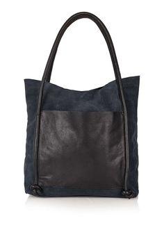 Leather Knot Shopper - Topshop