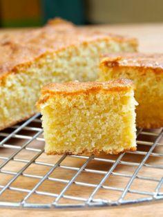 Butter Cake ***ingredients (all-purpose flour, ground almonds, baking powder, salt, butter, sugar, egg, egg yolk, vanilla extract, whole milk)