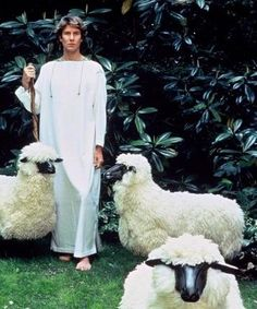 Yves Saint Laurent with Lalanne lambs