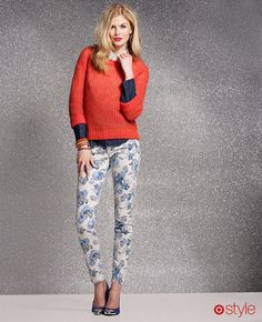 floral denim and bright sweater #TargetStyle