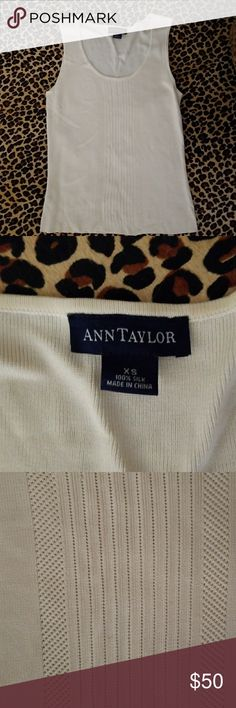 Ann Taylor 100% Silk Cream Top NWOT Gorgeous!  So soft it is difficult to photograph.   Luxious material (silk). Ann Taylor Tops