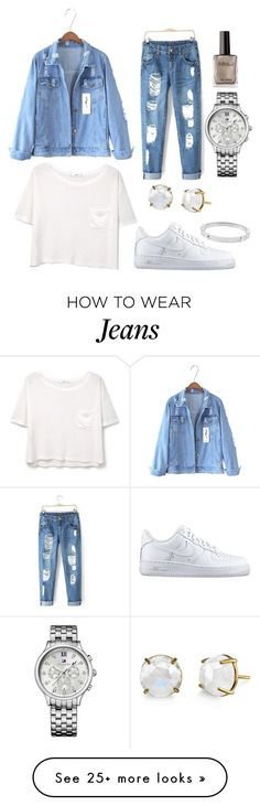 """Jeans"" by frederiquecuyk on Polyvore featuring MANGO, Michael Kors, NIKE, Tommy Hilfiger, women's clothing, women, female, woman, misses and juniors"