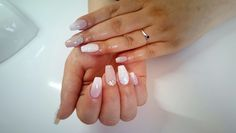 Baby boomer nude wedding nails