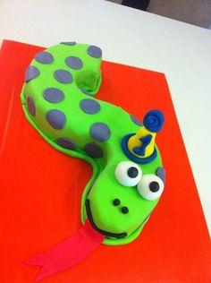 Party snake cake