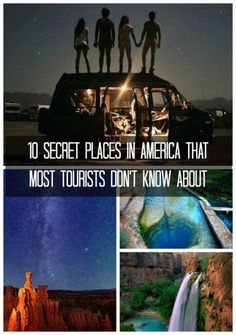 10 Secret Places in America That Most Tourists Don't Know About. Click to venture into USA's hidden mysetries! #spon #adventure
