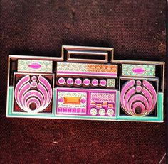 Hey, I found this really awesome Etsy listing at https://www.etsy.com/listing/161995706/bassnectar-pin-boombox-hat-pin