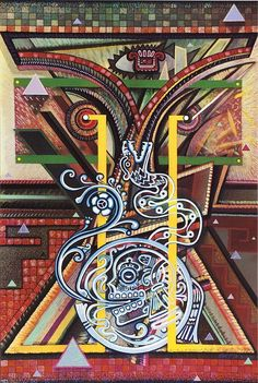 Resistance to Cultural Death - An Affirmation of My Past, from the National Chicano Screenprint Taller, 1988-89  1988 Mario Castillo   Smithsonian American Art Museum 1991.65.2