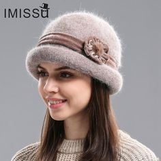 IMISSU Autumn&Winter Fedora Rabbit Fur Hat for Women Women's Casual Cap Solid Colors Gorros Cap Modeling Fashion Elegant Rabbit Fur Hat, Leotard Fashion, Spring Hats, Winter Hats For Women, Cute Hats, Hat Hairstyles, Girl With Hat, Bandeau, Womens Fashion