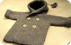 Ravelry: Lino's Coat pattern by Lili Comme Tout would be cute with a 2/2 rib border and a moss stitch