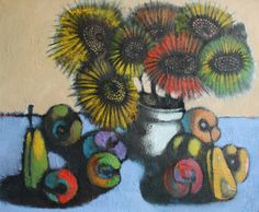 Original Painting SUNFLOWERS still by ARTGALERYPAINTING on Etsy