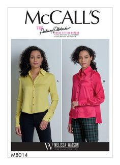 McCall's Sewing Pattern Misses' Shirts New Look Coats, Kwik Sew, Sewing Blogs, Sewing Projects, Mccalls Sewing Patterns, Plus Dresses, Sewing Studio, Extra Fabric, Shirt Price