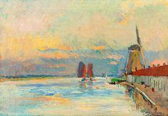 Albert Lebourg (1 February 1849, Montfort-sur-Risle – 6 January 1928, Rouen), birth name Albert-Marie Lebourg, was a French Impressionist and Post-Impressionist landscape painter of the Rouen School (l'École de Rouen)