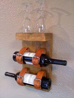 Wand Weinregal für Wein und Gläser