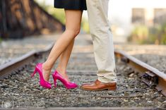 13 hot pink shoes engagement - Anita + Anand | Strip District and Schenley Park Engagement Photos