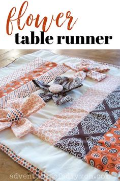 A simple table runner jazzed up with three dimensional flowers. Get the free tutorial today!