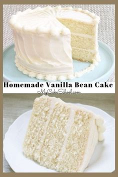 This Moist Vanilla Bean Cake recipe from scratch is an amazing layer cake that is sure to become a favorite! This Moist Vanilla Bean Cake recipe from scratch is an amazing layer cake that is sure to become a favorite! Vanilla Layer Cake Recipe, Vanilla Bean Cakes, Layer Cake Recipes, Easy Cake Recipes, Frosting Recipes, Vanilla Bean Wedding Cake Recipe, Layer Cakes, Vanilla Cake Recipes, Sweets