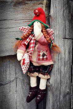 новогодний гномик тильда,новогодний сплюшка,ангел добрых снов,гномик новогодний с оленем,рождественский декор,подарок на новый год