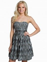 New Fashion, Womens Fashion, Belted Dress, Spring 2014, Strapless Dress, Vanity, Clothes For Women, Denim, Shopping