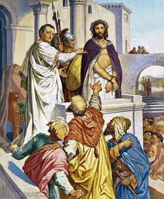 """Matthew 27: Not long after the remorse and death of Judas, Pilate turned Jesus over to the Jews, stating: """"""""I am innocent of this Man's blood; see to that yourselves."""" And all the people said, """"His blood shall be on us and on our children!"""" Then he released Barabbas for them; but after having Jesus scourged, he handed Him over to be crucified."""