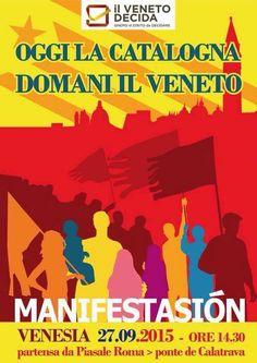 L'INDIPENDENZA DI SAN MARCO: IL 27 SETTEMBRE TUTTI A VENEZIA x LA CATALONIA!