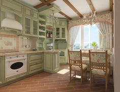 +++Kitchen design in the style of Provence.