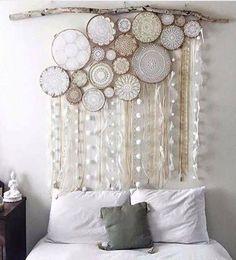 Beautiful!! Crochet Art Framed in Embroidery Hoops