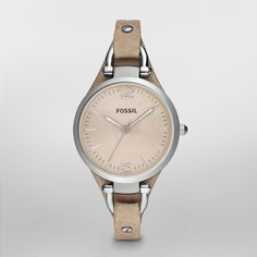 FOSSIL® leather watch! (this is what it looked like before the dogs chewed the band off....