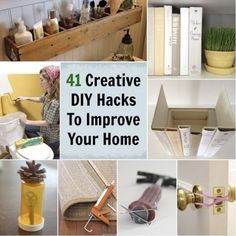 41 Creative DIY Hacks To Improve Your Home...http://homestead-and-survival.com/41-creative-diy-hacks-to-improve-your-home/