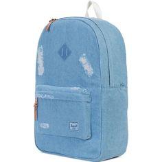 Herschel Supply Co Heritage Backpack blue denim faded
