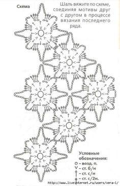 Shema-vyazaniya-ajurnoj-Shali-kruchkom-iz-cvetochnih-motivov (409x635, 129Kb)